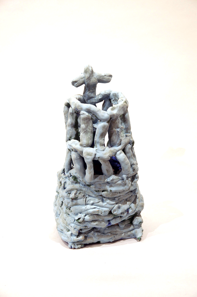 "Untitled, glazed ceramic, 14"" x 7"" x 7"", 2013"