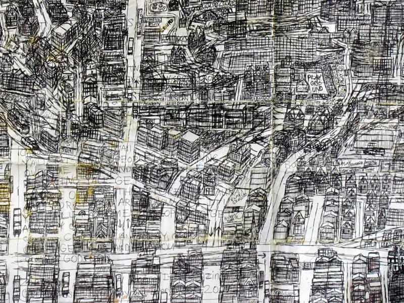 Cincinnati Map, 2009 (detail)