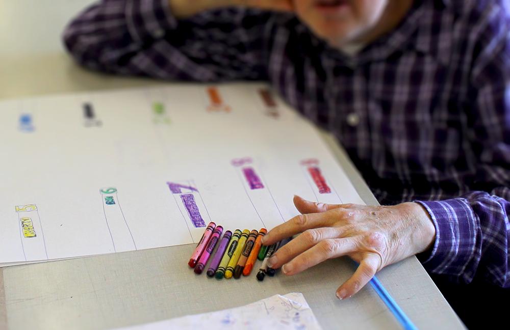 Roger Swike's ten crayons