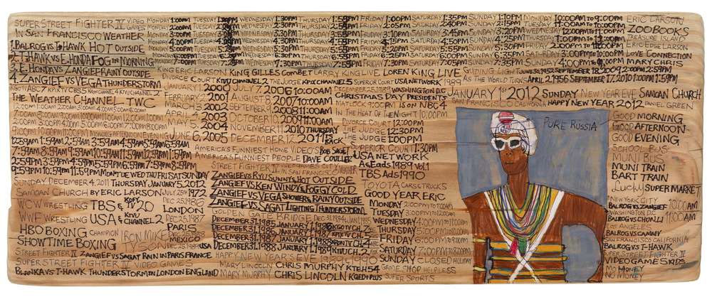 Daniel Green, Pure Russia, 2011, Mixed media on wood, 9 x 23 x 3.5 inches