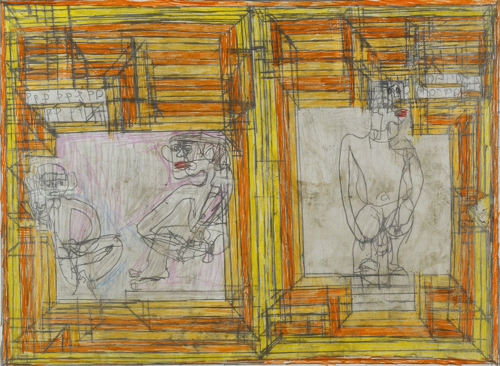 Josef Hofer, Untitled, 2007, pencil and colored pencil on paper, 17.32 x 23.62 inches