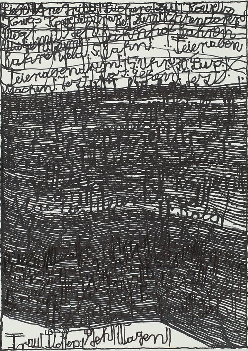 Harald Stoffers,  Brief 336 , 2014, Waterproof felt tip pen on paper, 16.5 x 11.75 inches