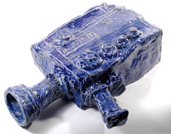 Untitled (Movie Camera) , glazed ceramic, 2008, 14 x 45 x 32cm