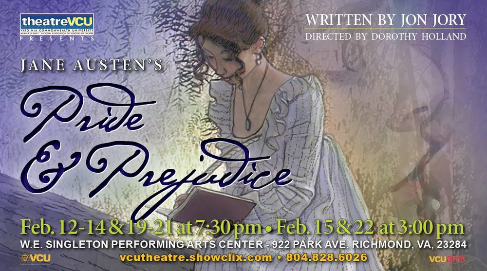 VCU's Pride and Prejudice - Elizabeth Bennett - During my senior year at Virginia Commonwealth University, I discovered a dream role I never knew I had. I got to play Elizabeth Bennett in Jane Austen's