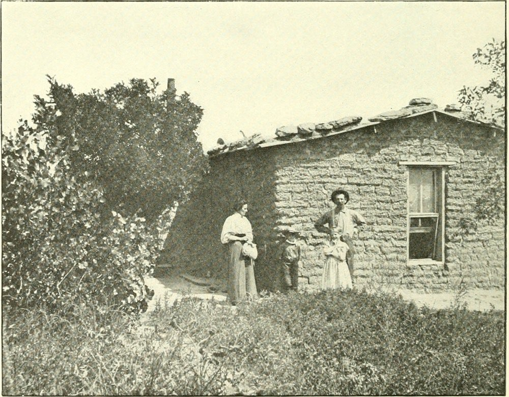 early-sod-house-family
