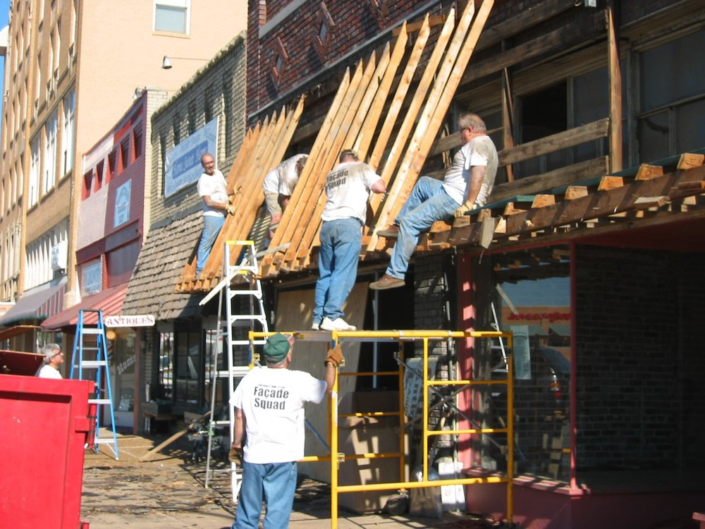 Photo by:  Claremore Main Street  of their Facade Squad in action