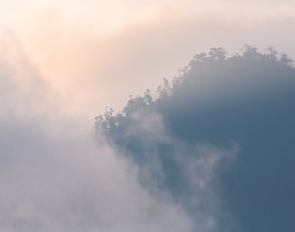 106 Low clouds in the Himalayas, Bhutan
