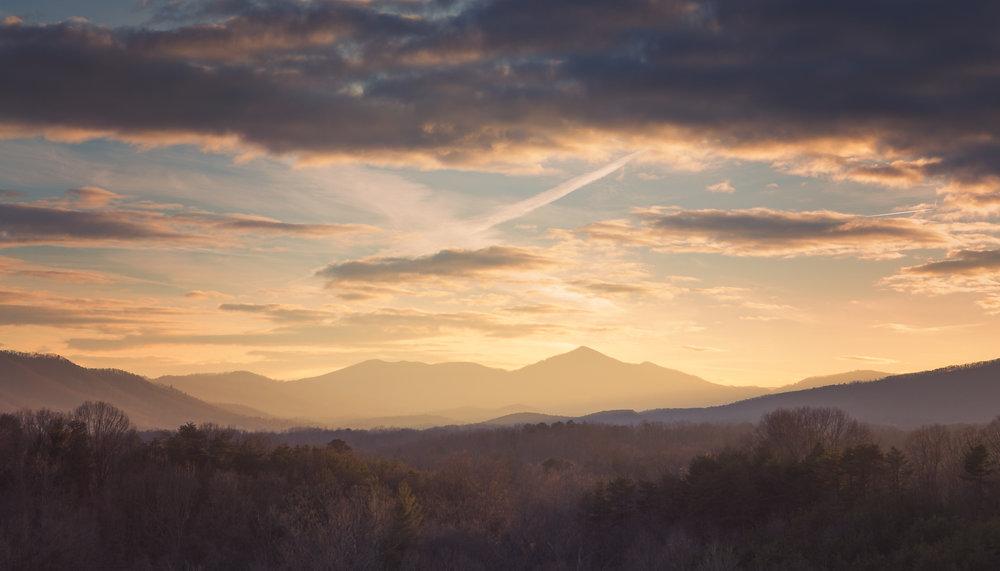 Camas Mountain from Blue Ridge Parkway