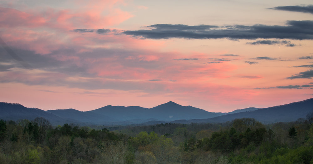 Cahas Mountain from Blue Ridge Parkway