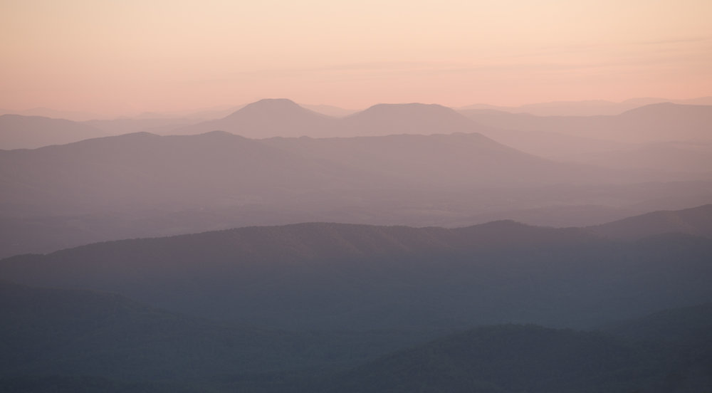 view from Sharp Top, Peaks of Otter, Blue Ridge Parkway