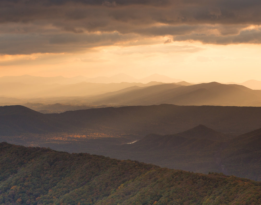 view from McAfee Knob on the Appalachian Trail