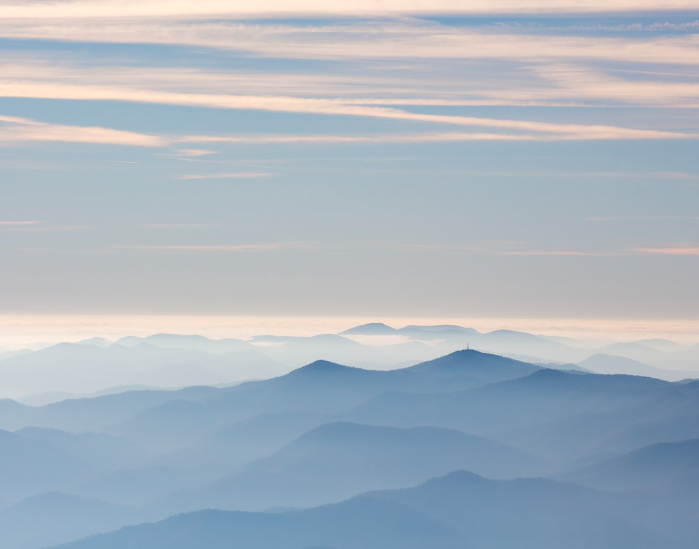 19. view from Clingmans Dome, Great Smoky Mountains National Park, Tennessee