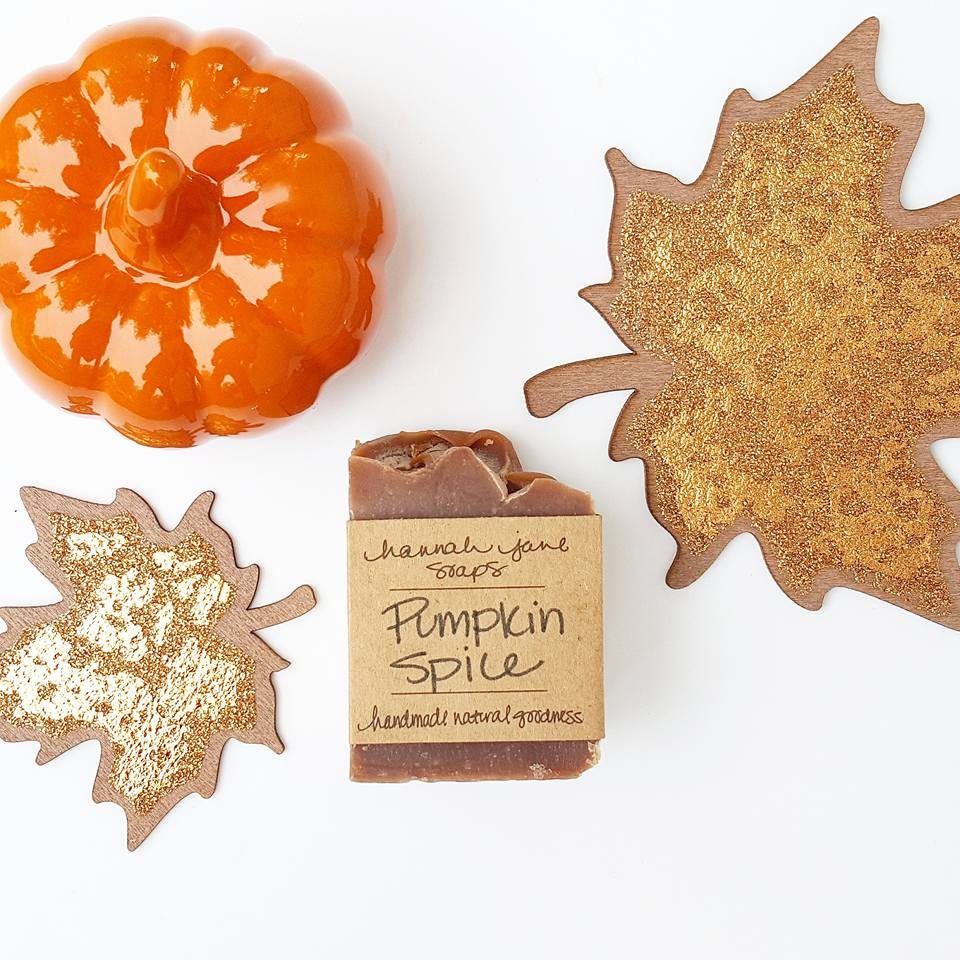 OH, and one last thing….the HJS seasonal Pumpkin Spice bar is now available at www.hannahjanesoaps.com in the SHOP section! Let's get our Fall on.