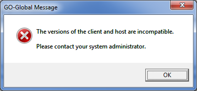 "ACTS|Classic ""Version Incompatible"" Message"