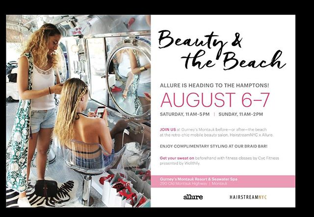 Come have your hair braided this weekend @gurneysmontauk @hairstreamnyc @allure @lovestreamnyc