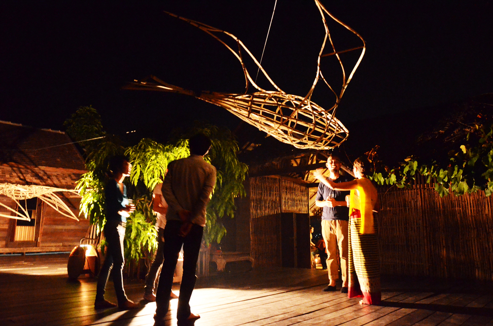 2013,Photograph from Exhibition opening 'Annex' Mark Swartz and Miranda Whall at Ne-Na contemporary art space, Chiang Mai, Thailand.