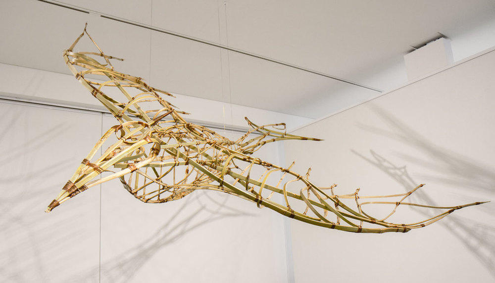 2015, Bamboo, copper wire. 220cm x 200cm x 30cm. Exhibited at Gallery Lane Cove, Sustainable Aesthetics Exhibition 2015, Photograph by Michael Herman.