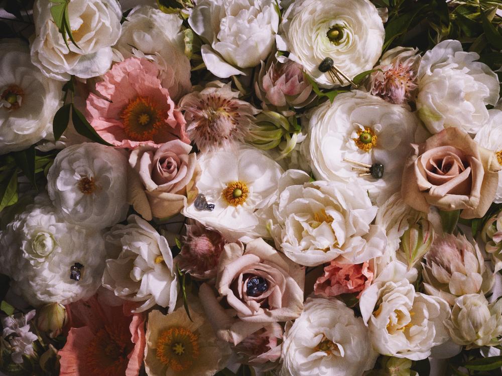 wL Stock Photo Flowers w Jewels
