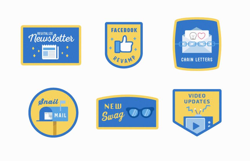 Custom icons to summarize the Class Representative Goals