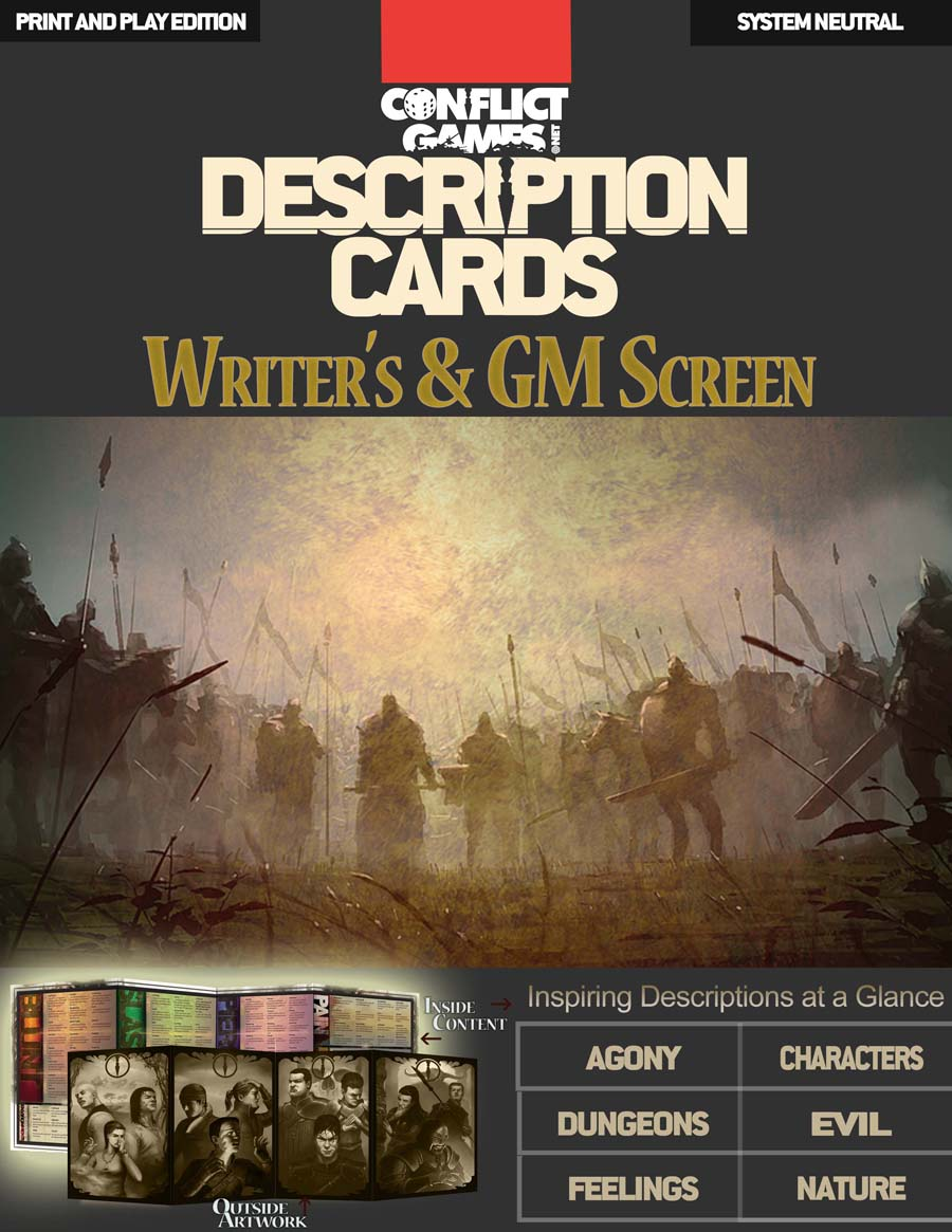 Combat Description Cards Writer's & GM Screen (PDFs Only) — Conflict Games