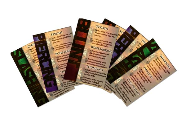Combat Description Cards