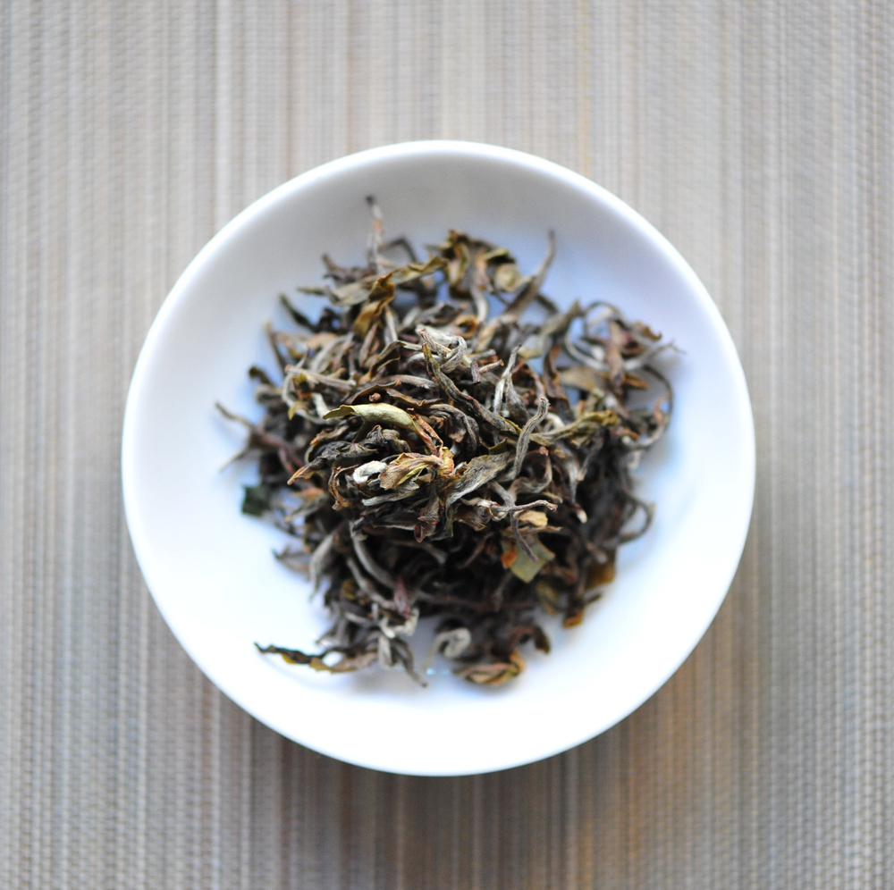 Tea leaves of Tara's Offering.