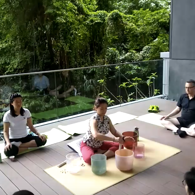 Singing Bowls & Tea Meditation@ Asia SocietySat, 15 June (11:15-12:00) - This session in May will take place inside the exhibition - Yukaloo - by James Turrell.