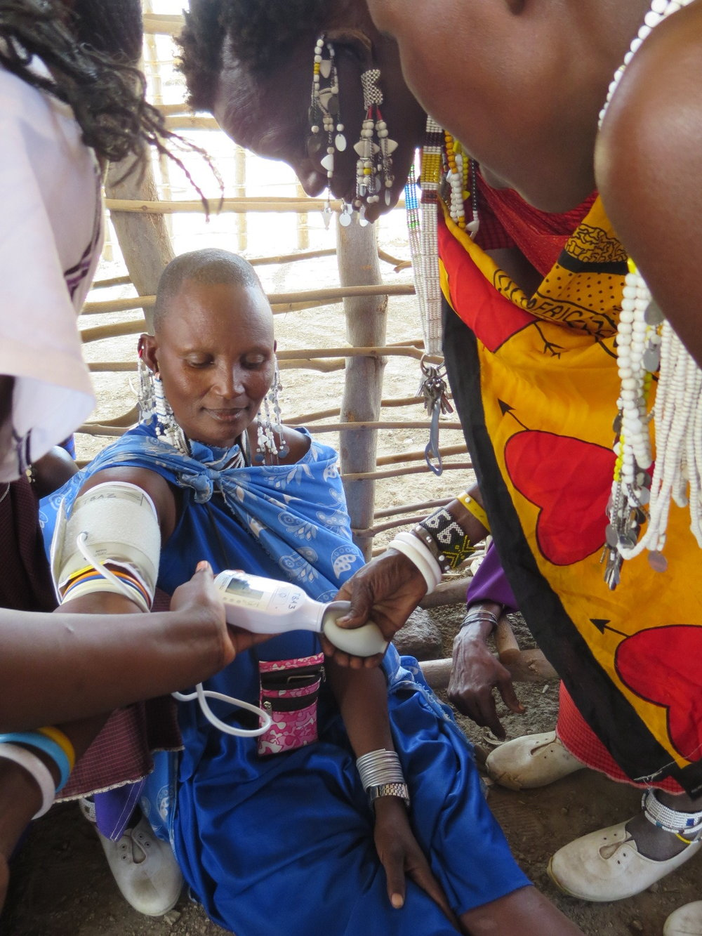 Masai women learning to take blood pressure.JPG