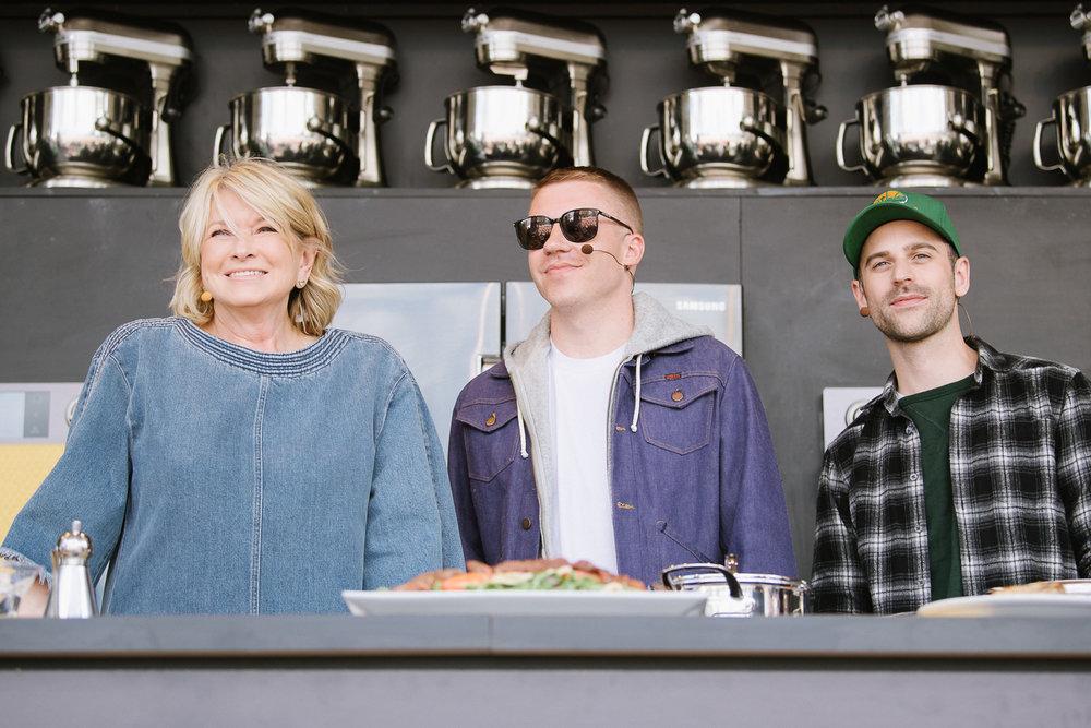 Martha Stewart, Macklemore, Ryan Lewis