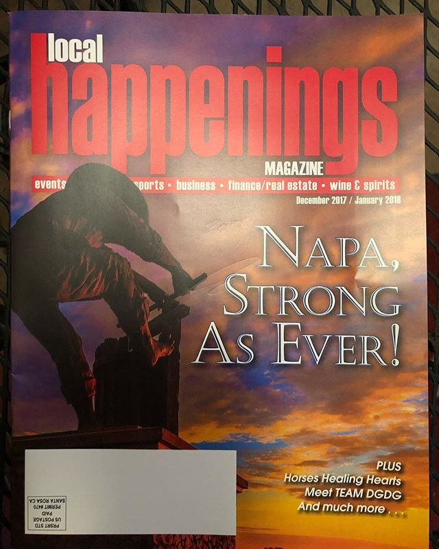 In line at Taqueria Rosita getting some dinner and saw my photo on the cover of Local Happenings magazine. How does this happen?!