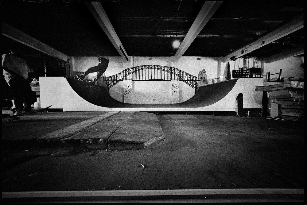 Nathan Ho, Frontside Disaster, Funeral Parlour Ramp, Dulwich Hill, NSW, Silver Gelatin Print, 50.8cm x 60.1cm, 1/5