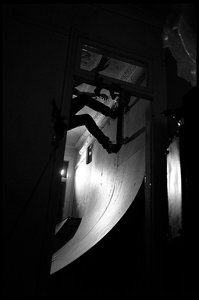 Leahey, Lounge Room Wallride, Enmore, NSW (2011), Archival Pigment Print, 84.1cm x 59.4cm