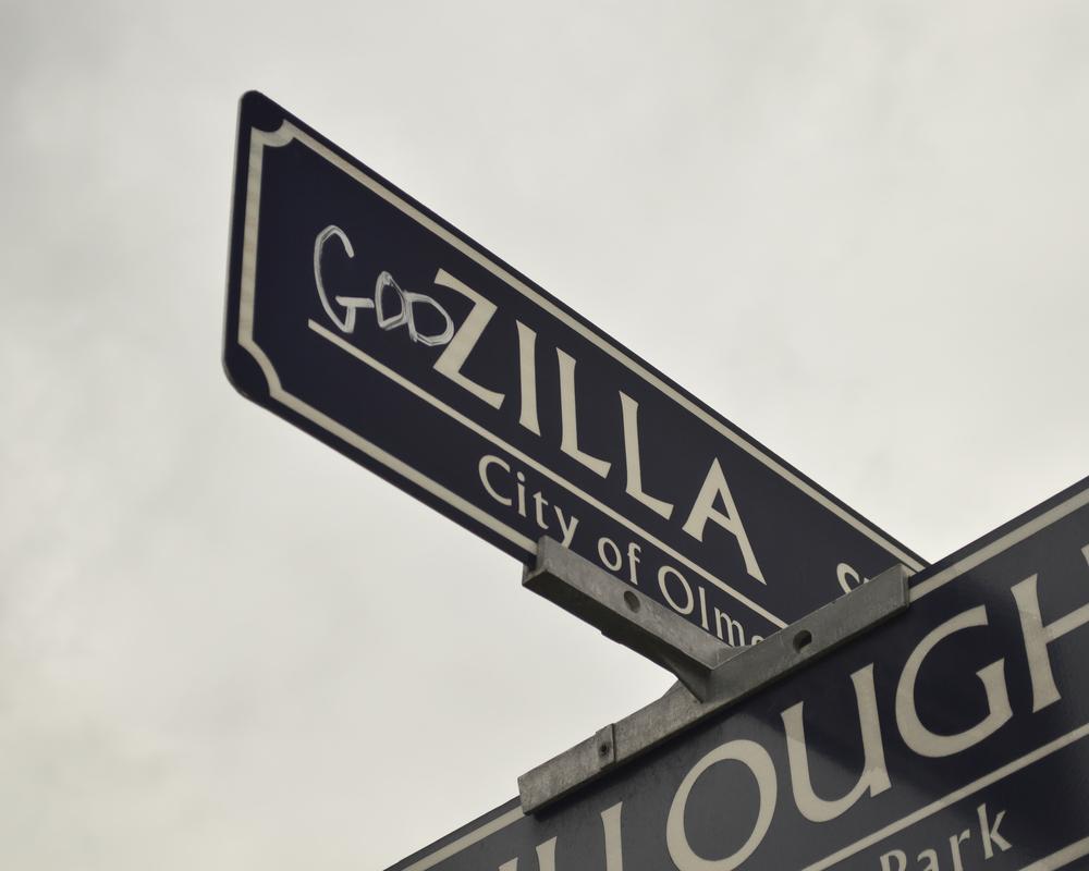 """godZILLA St."" - Because graffiti artists have a sense of humor too."