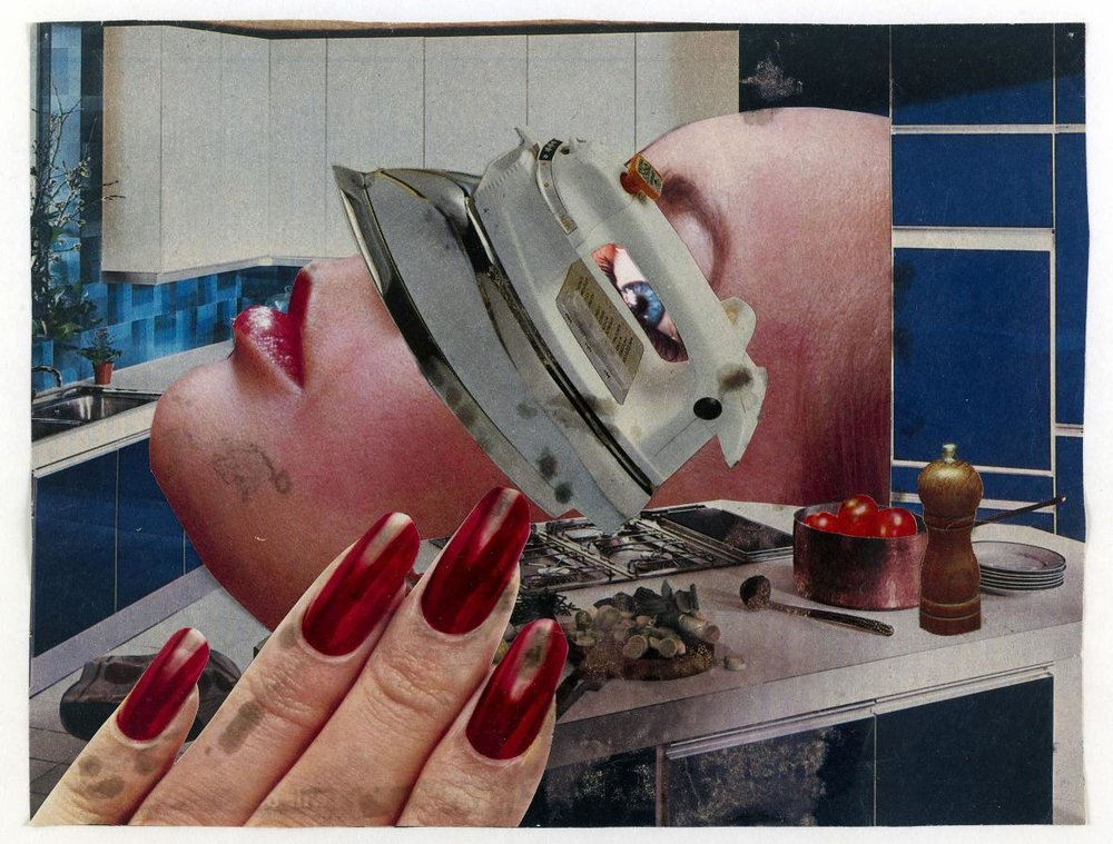 Linder,  Untitled ,1978, photomontage, 18 x 23.5 cm