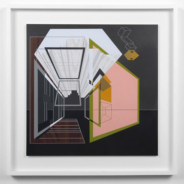 Another work, this one untitled from the same group of work as the FOLD show—thought you might like to see it!  #contemporaryart #geometricart #abstractpainting