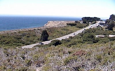 Drivers rarely notice the huge wall that rises up on the ocean side as Highway 1 drops down into the valley just north of Davenport. What the heck's going on here? And, isn't there a creek down in that valley somewhere?