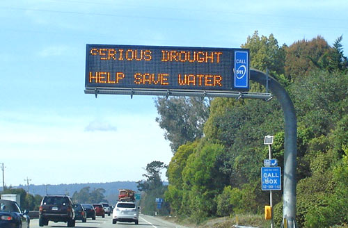 SERIOUS DROUGHT - HELP SAVE WATER.