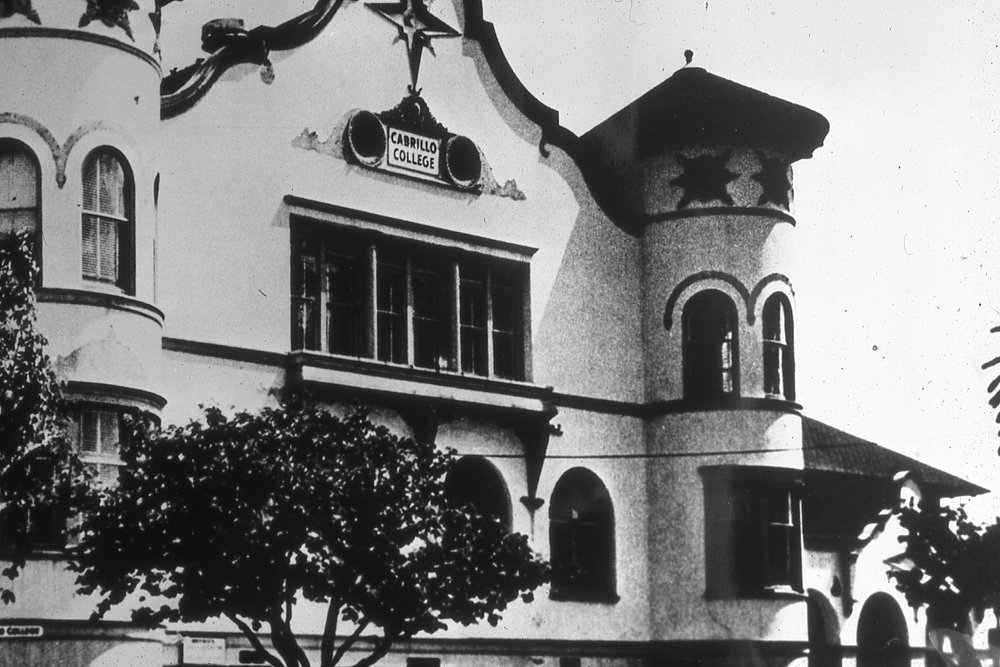 The old (contemned) Watsonville High School building was not safe for high school students, but was for Cabrillo's first three years of instruction.