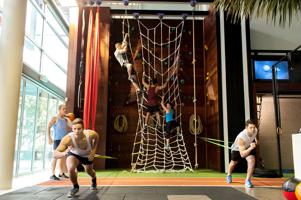 centennial health club climbing wall
