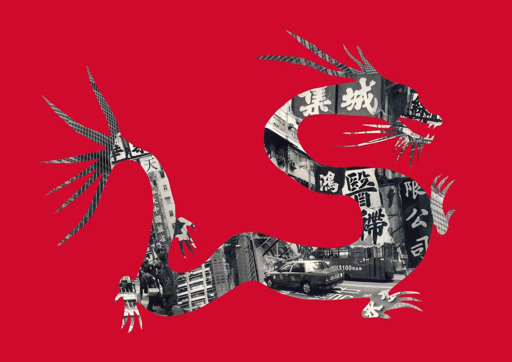 Dragon in Hong Kong [red]