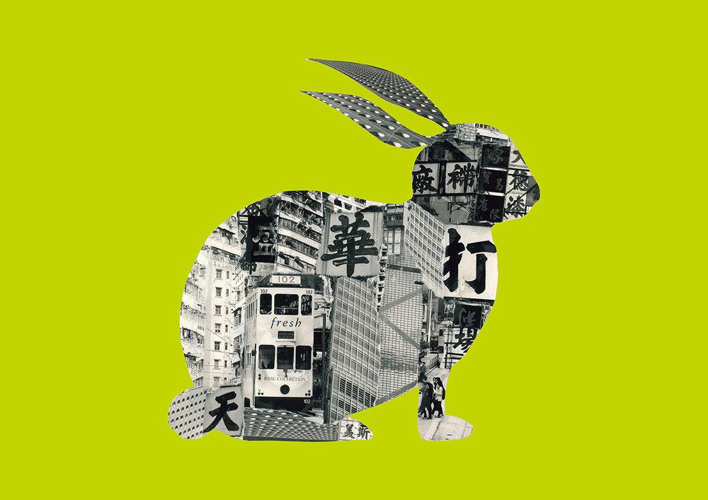 Rabbit in Hong Kong [light green]
