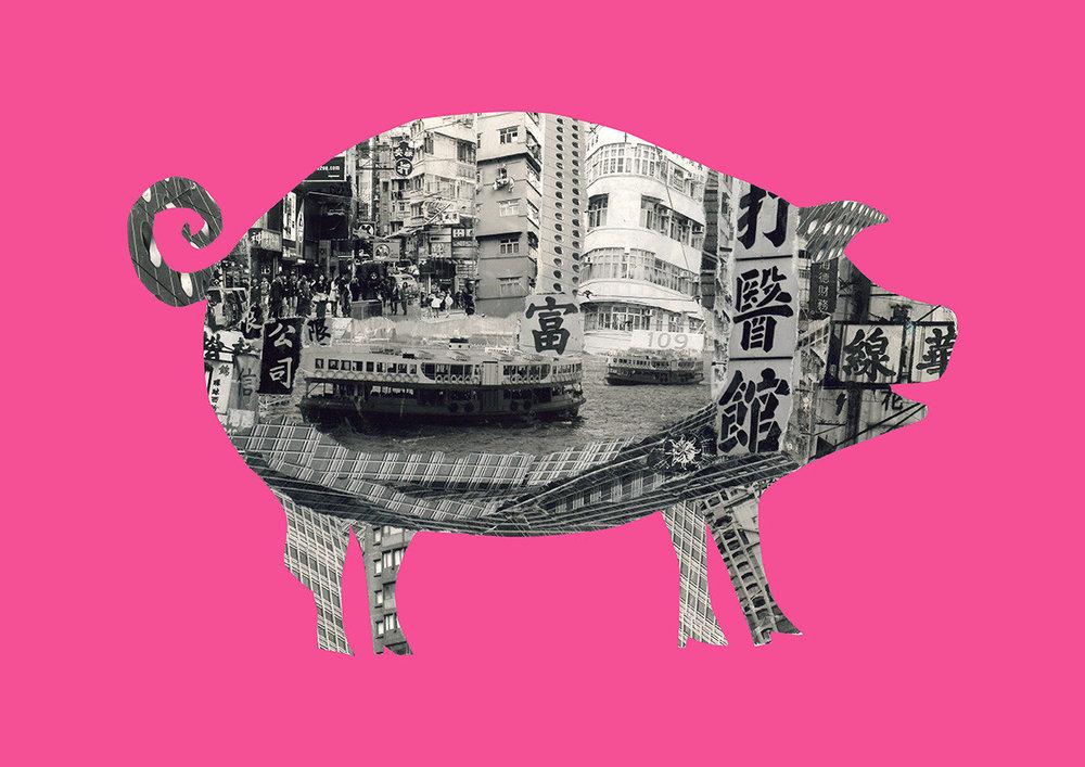 Pig in Hong Kong [pink]