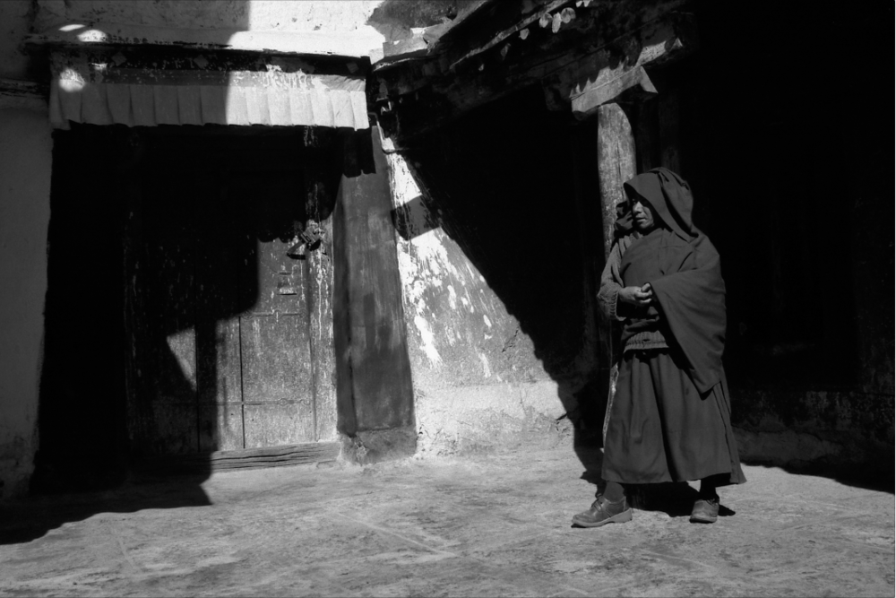 Jo Farrell, In The Shade, Dreprung Monastery  (Tibet, 2003)