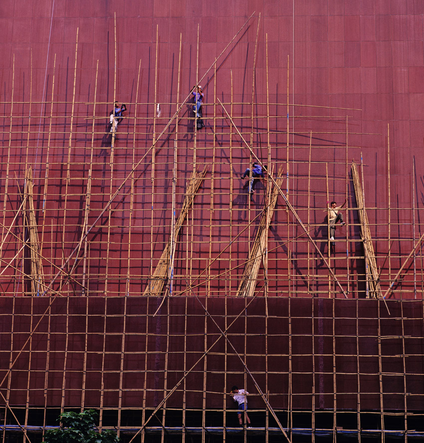 Scaffolders at City Hall, 1994