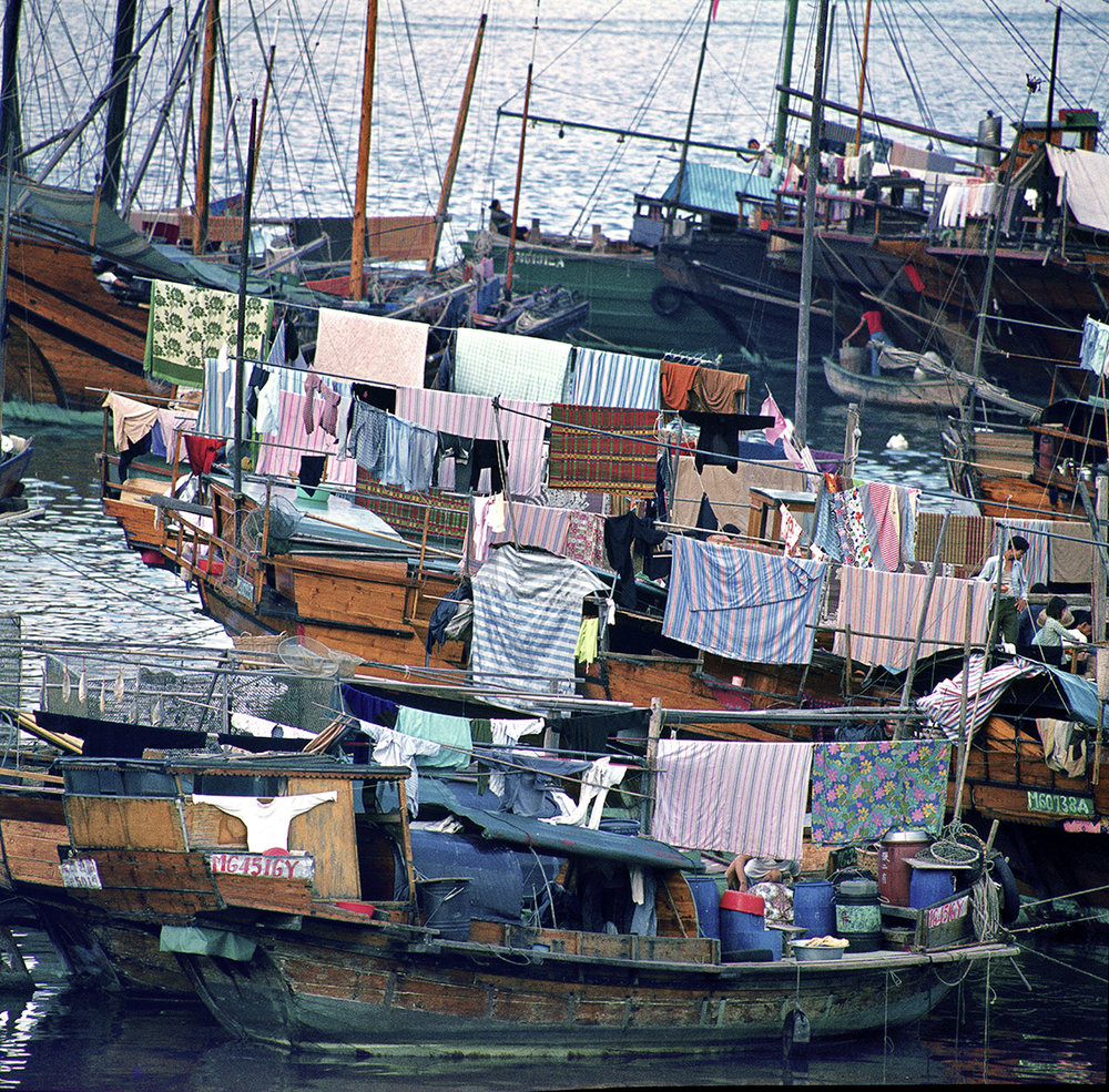 Fishing Boats - Tai Po Kau at Chinese New Year, 1974