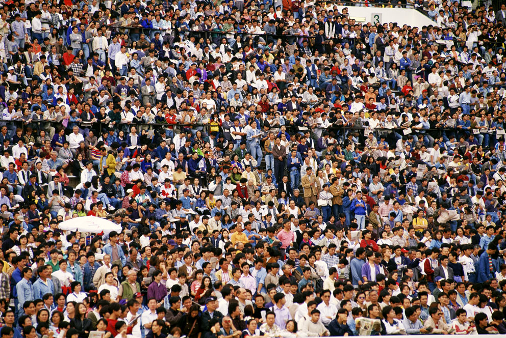 Race crowd Shatin, 1995