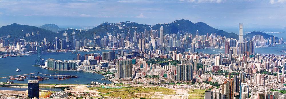 Kowloon & Island fom Fei Gno Shan, 2011