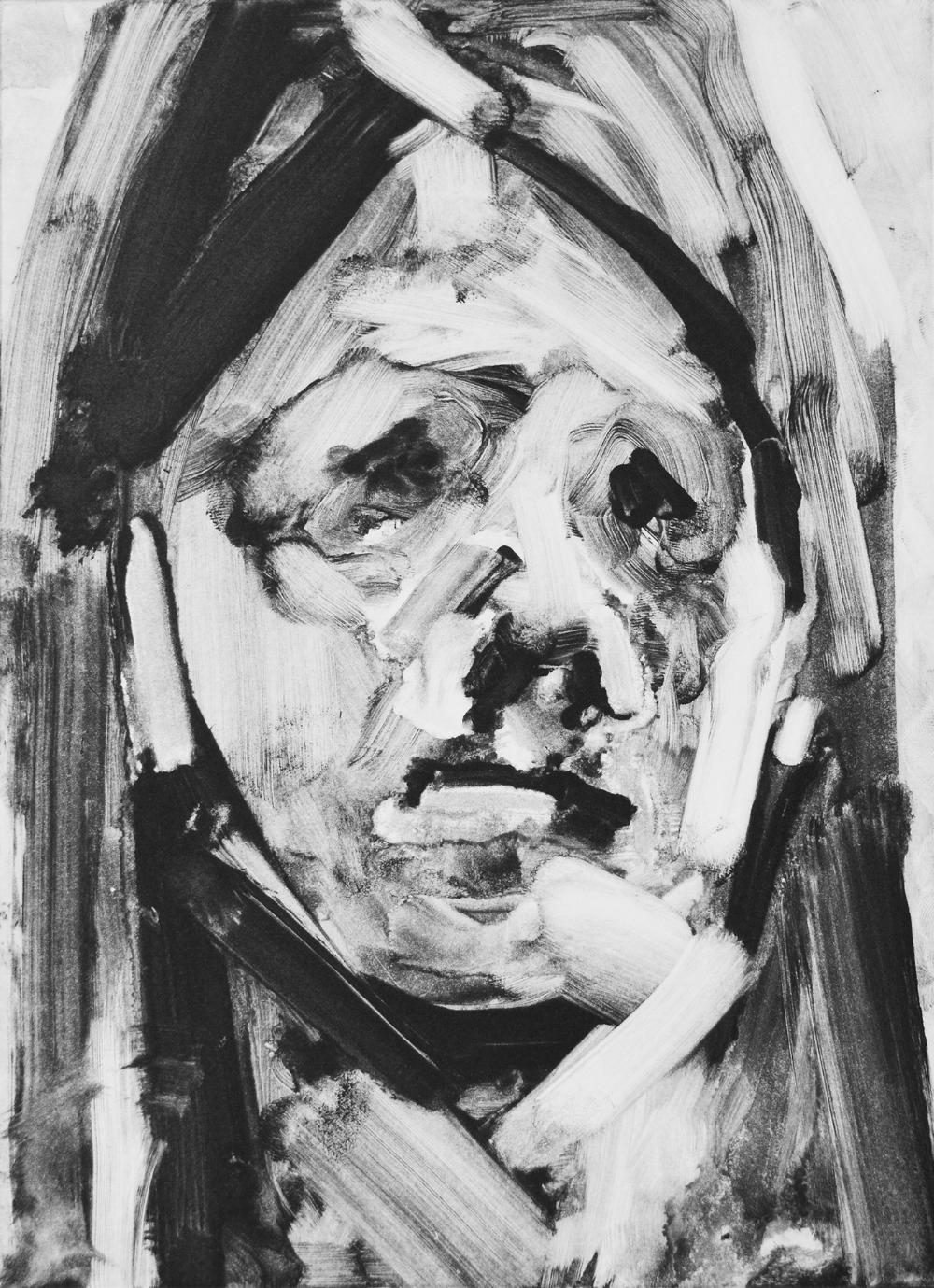 Becky 2016 monotype 22.2 x 16.2 cm