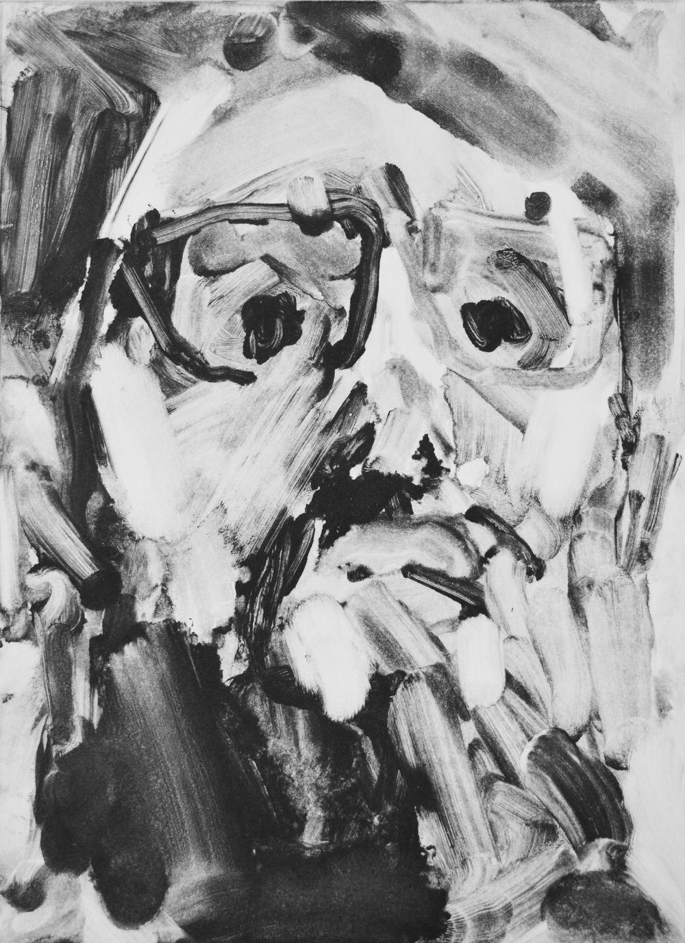 Jake 2016 monotype 22.2 x 16.2 cm