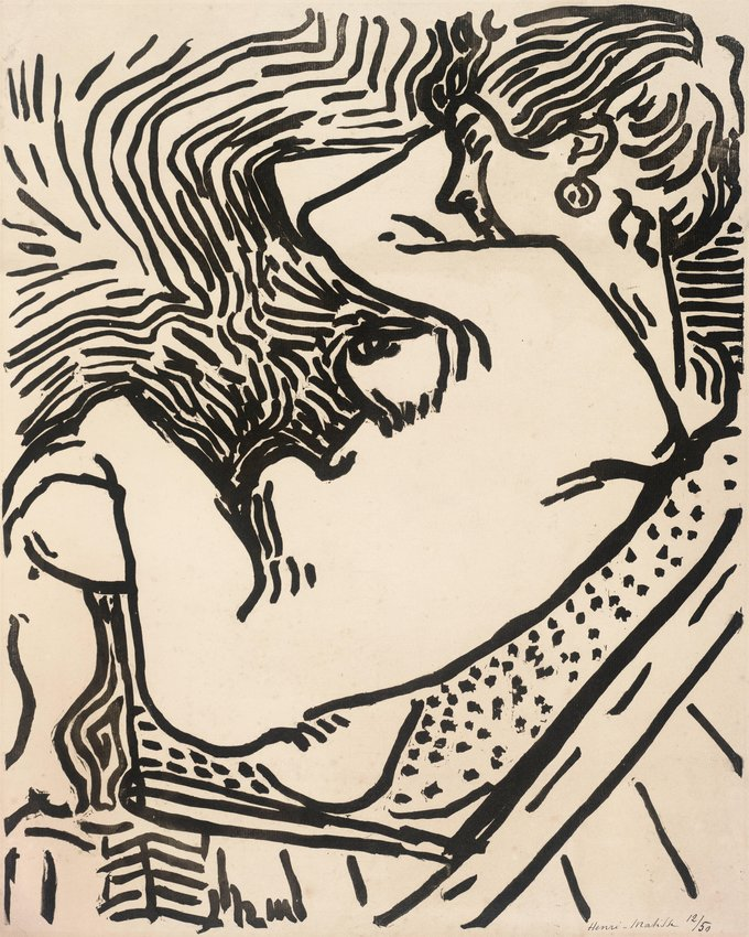 Henri Matisse,  Le Grand bois (The Large Woodcut),  1906, woodcut